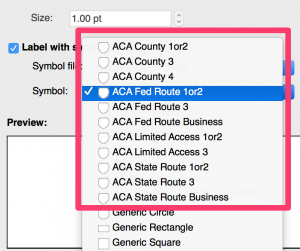 Replacing text shields with symbols in MAPublisher LabelPro