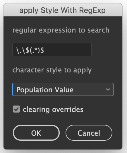 Illustrator Character Style Batch Text Regex Replace Script
